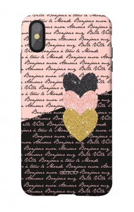 Soft Touch Case Apple iPhone XR - Hearts on words