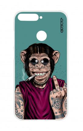 Cover TPU HUAWEI P SMART - Scimmia felice