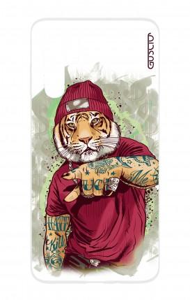 Cover HUAWEI P30 PRO - Tigre Hip Hop bianco