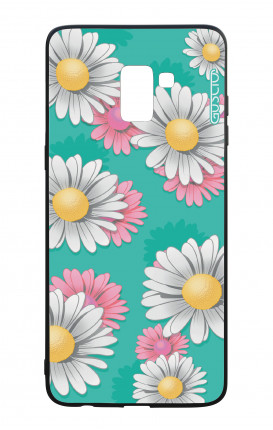 Samsung A8 2018 WHT Two-Component Cover - Daisy Pattern