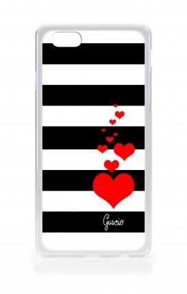 Cover Bicomponente Apple iPhone XR - Scritte e Cuori rosa nero