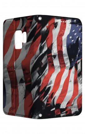 Cover STAND SAMSUNG S9 - Bandiera americana