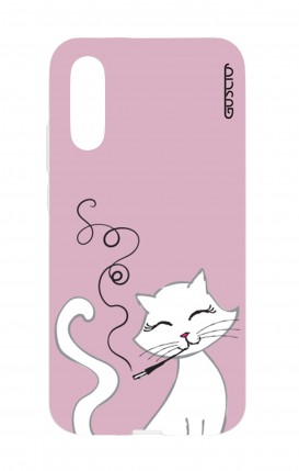 Cover Huawei P20 - Gattina bianca