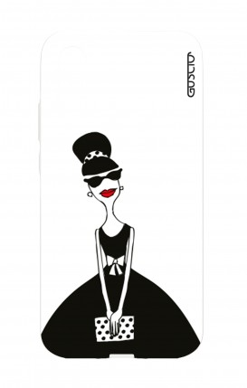 Cover Huawei P20 - Miss with Handbag
