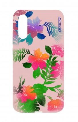 Cover Huawei P20 - Fiori fondo rosa