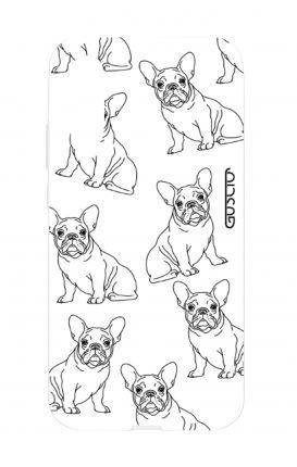 Cover TPU Huawei P20 - Bulldog francese pattern