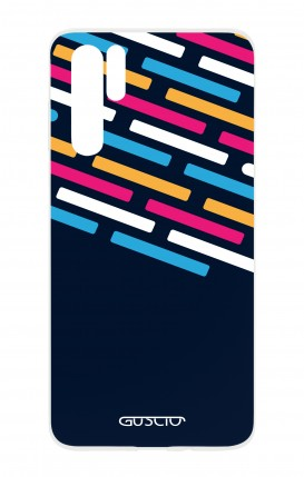 Cover HUAWEI P30 PRO - Stripes on Dark Blue