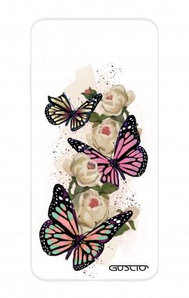 Cover HUAWEI P30 PRO - Farfalle su bianco