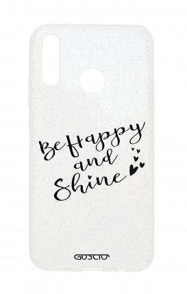 Cover Glitter Soft Huawei P20 Lite - Sii felice e brilla