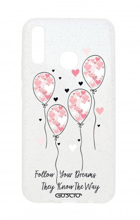 Cover Glitter Soft Huawei P20 Lite - Palloncini rosa