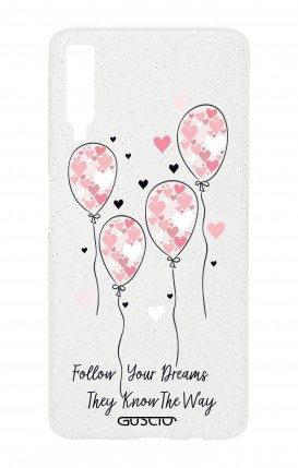 Cover GLITTER SOFT Sam A7 2018 - Pink Balloon