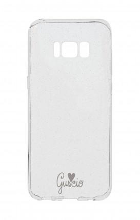 Cover Glitter Soft Samsung S8 - Guscio con Amore