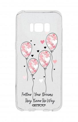 Cover GLITTER SOFT Sam S8 - Pink Balloon