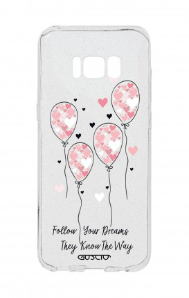 Cover Glitter Soft Samsung S8 - Palloncini rosa