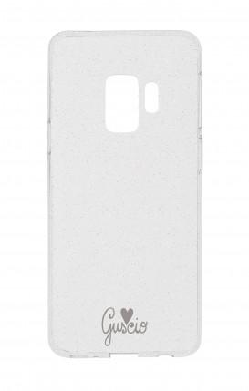 Cover Glitter Soft Samsung S9 - Guscio con Amore