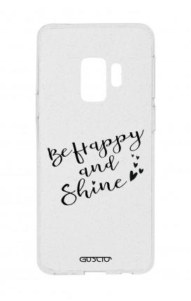 Cover Glitter Soft Samsung S9 - Sii felice e brilla