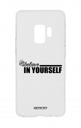Cover Glitter Soft Samsung S9 - credi in te stesso