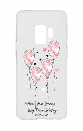 Cover Glitter Soft Samsung S9 - Palloncini rosa