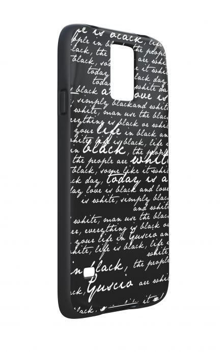 Cover Bicomponente Samsung S5 - Scritte in bianco e nero