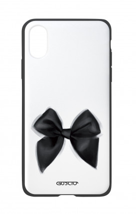 Apple iPhone X White Two-Component Cover - Black Bow