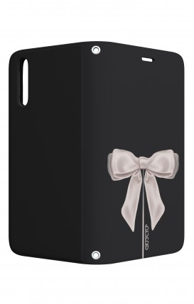 Case STAND Huawei P20 - Satin White Ribbon