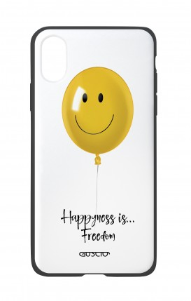 Apple iPh XS MAX WHT Two-Component Cover - Happiness Balloon
