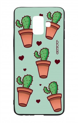 Cover Bicomponente Samsung J6 2018 WHT - Cactus Pattern