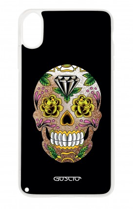 Cover GLITTER Liquid Apple iphone XS MAX GLD - BLACK Calavera Zoom