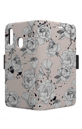 Case STAND VStyle EARS Samsung A40 - Peonias