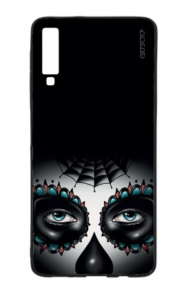 Cover Bicomponente Samsung A70  - Calavera occhi