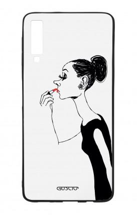 Cover Bicomponente Samsung A70  - Miss con rossetto