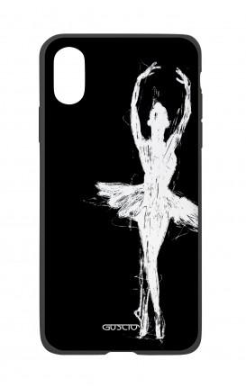 Cover Bicomponente Apple iPhone X/XS  - Ballerina su nero