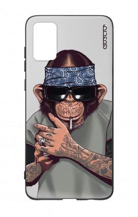 Cover Bicomponente Samsung A41 - Scimpanze con bandana