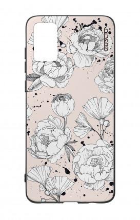 Case Samsung M20 - Butterflies white