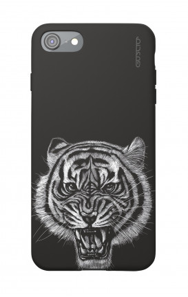 Soft Touch Case Apple iPhone 7/8/SE - Black Tiger