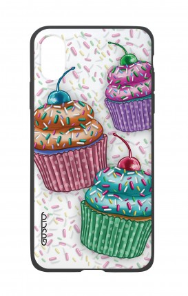 Apple iPh XS MAX WHT Two-Component Cover - Cupcakes