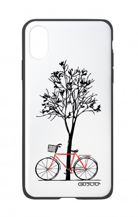Apple iPhone X White Two-Component Cover - Cycle & Tree