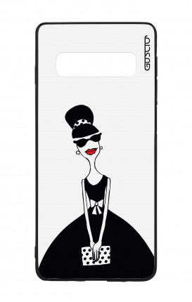 Samsung S10Plus WHT Two-Component Cover - Miss with Handbag