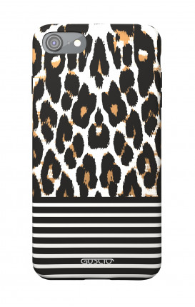 Soft Touch Case Apple iPhone 7/8/SE - Animalier & Stripes