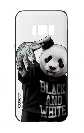Cover Bicomponente Samsung S8 Plus - Panda b&w bianco