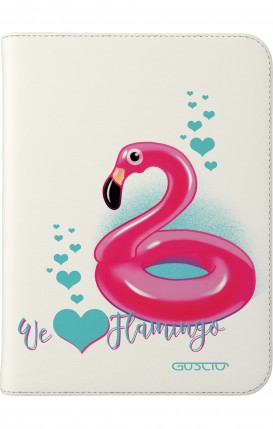"Cover Universal Tablet Case per 7/8"" display - We love Flamingo"