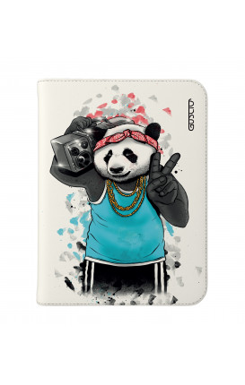 "Cover Universal Tablet Case per 7/8"" display - Panda anni '80 su bianco"