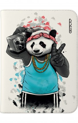 "Cover Universal Tablet Case per 7/8"" display - Panda anni '80 su bianco"
