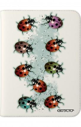 """Case UNV TABLET 7-8"""" - Ladybugs on white"""