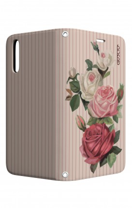 Cover STAND Huawei P20 - Rose e righe