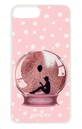 Cover GLITTER Liquid Apple iphone 7/8Plus PNK - Glitter snowball