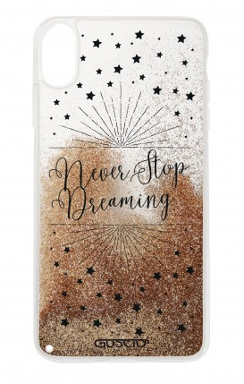 Cover GLITTER Liquid Apple iPhone XR GOLD - Never Stop Dreaming