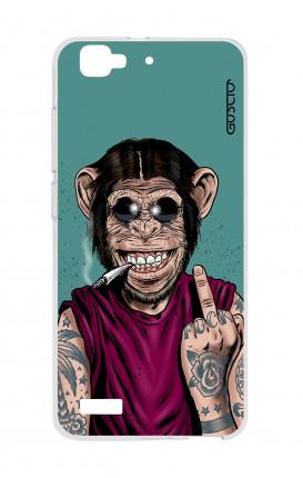 Cover TPU Huawei P8 Lite SMART - Scimmia felice
