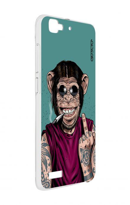 Cover Huawei P8 Lite SMART - Monkey's always Happy