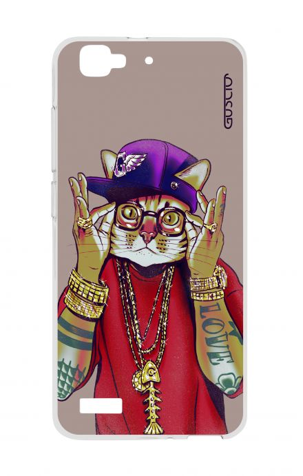 Cover Huawei P8 Lite SMART - Hip Hop Cat
